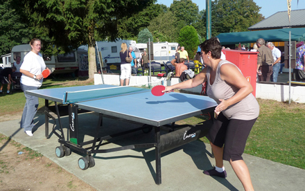 Table-tennis at camping Brussels 3CB