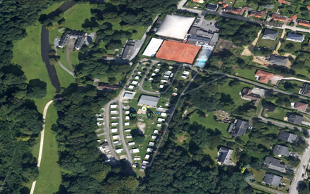 Satelitte view of camping Wezembeek-Oppem